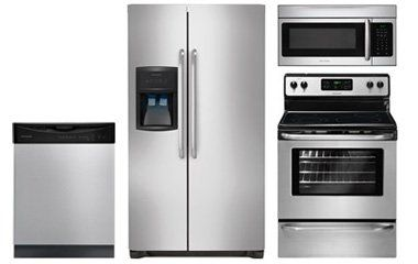 Frigidaire Stainless Steel Side-By-Side Refrigerator Appliance Package with Electric Range - Abt.com