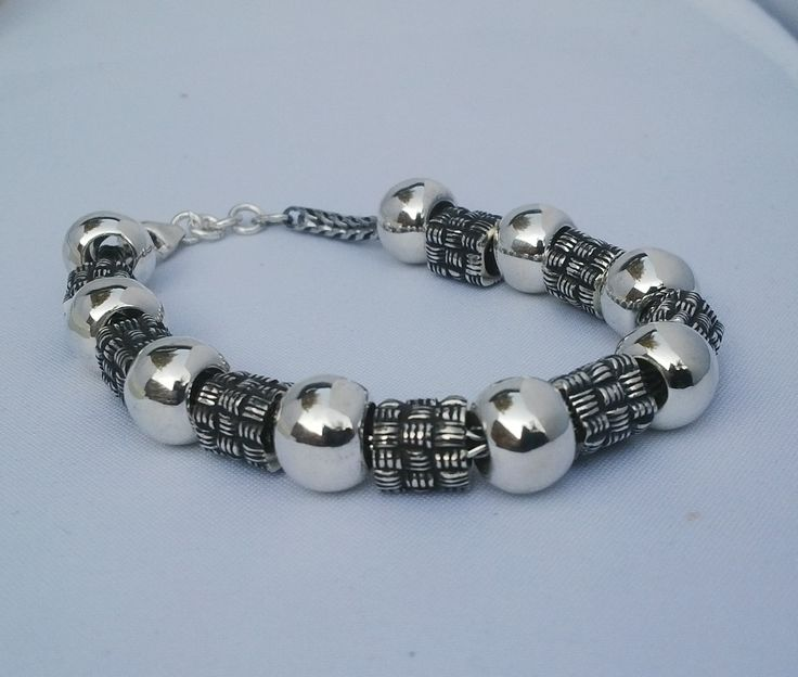 An exquisite sterling silver bracelet available with a variety of silver beads - just the right gift for Christmas!