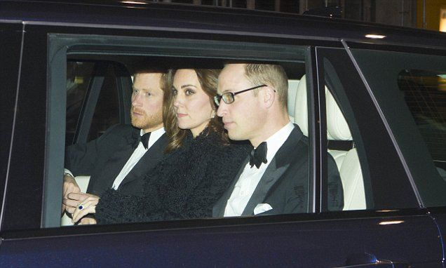 Princes William and Harry join Kate for Queen's 70th anniversary