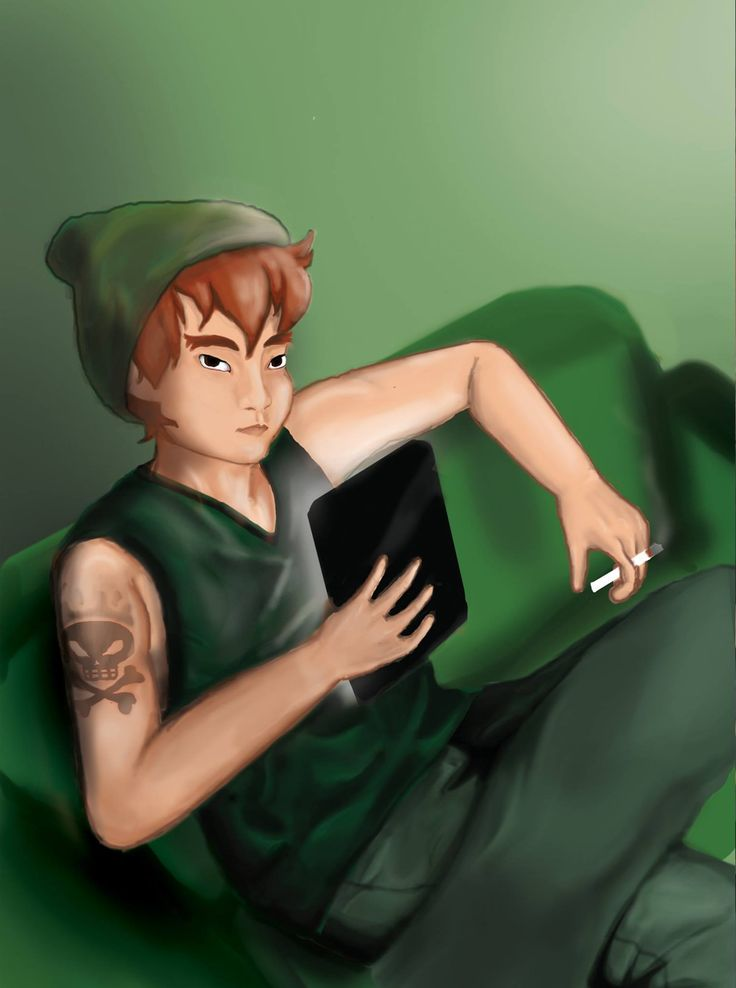 Peter from Peter Pan (the main character)
