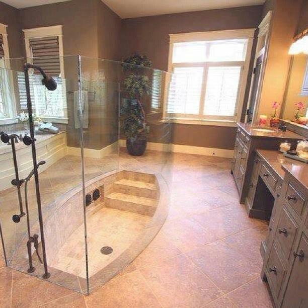 1000 Images About Walk In Shower Sunken Tub On Pinterest
