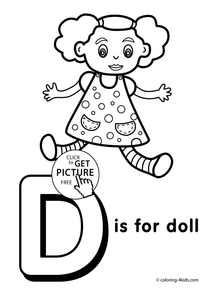 Download Or Print This Amazing Coloring Page: Letter D Coloring Pages Of  Alphabet (D Letter Words) For Kids ... | Kids   Toddler Sunday School |  Pinterest ...