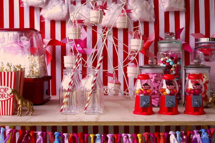 Pink & Red carnival party | Four Leaf Styling
