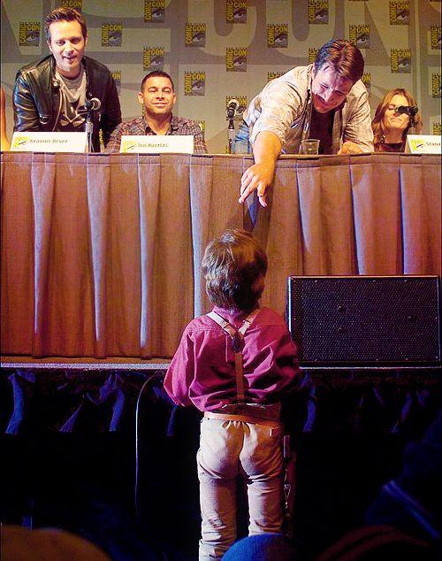 Nathan Fillion Meets A Tiny Captain Reynolds