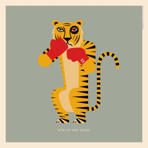 """Survivor's """"Eye of the #Tiger""""   An Illustrated Guide To Every Animal In Rock Music   Co.Design   business + design"""