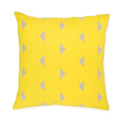Triangles Cushion in Yellow 50cm