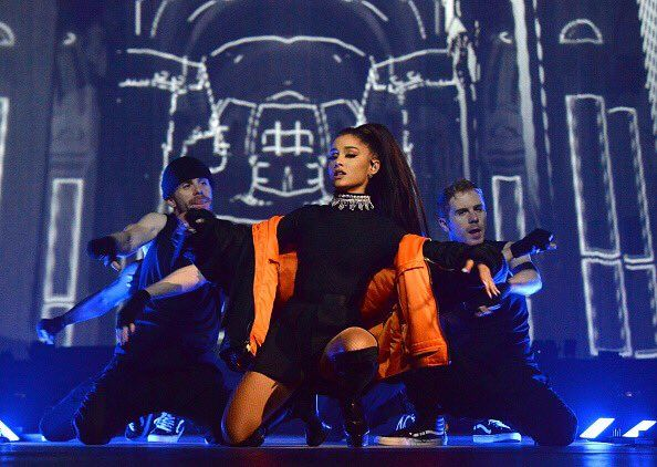 Ariana Grande on stage during the #DangerousWomanTour Opener at Talking Stick Resort Arena on February 3rd in Phoenix, Arizona. (9)