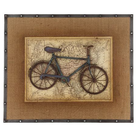 bicycle map wall art at joss and main home ideas. Black Bedroom Furniture Sets. Home Design Ideas