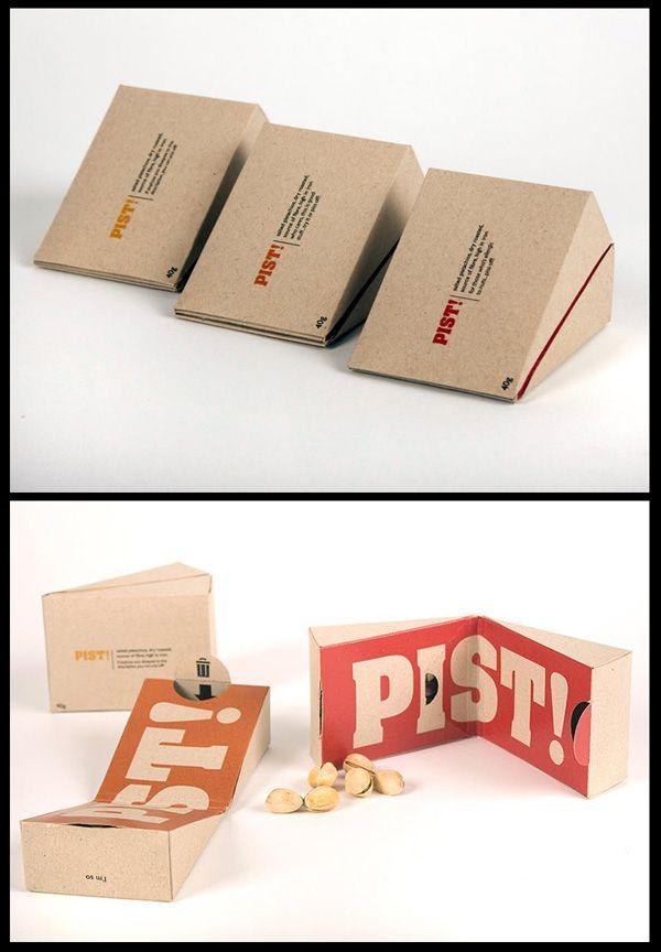 Design verpakking voor Pistache nootjes #verpakking met apart vakje voor schilletjes :-)))