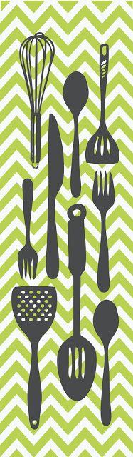 Cozinha * Ilustrações para impressão / posteres / illustration printable  - Blog…