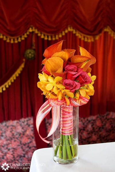 orange and red wedding colors | summer wedding colour schemes mexican gothic wedding damask wedding ...