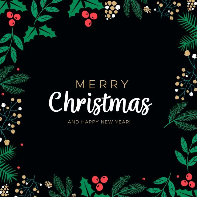 Merry Christmas And Happy New Year Vector Greeting Card Christmas Party Christmas Xmas Png And Vector With Transparent Background For Free Download Happy New Year Vector Merry Christmas And Happy New