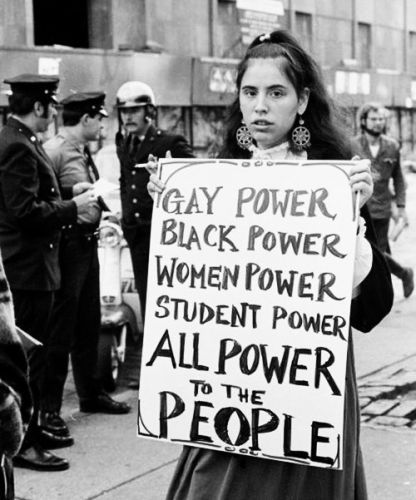 Power to the People! -- Photo by Diana Davies, 1970 (Doc. link: http://topdocumentaryfilms.com/all-power-to-the-people/)