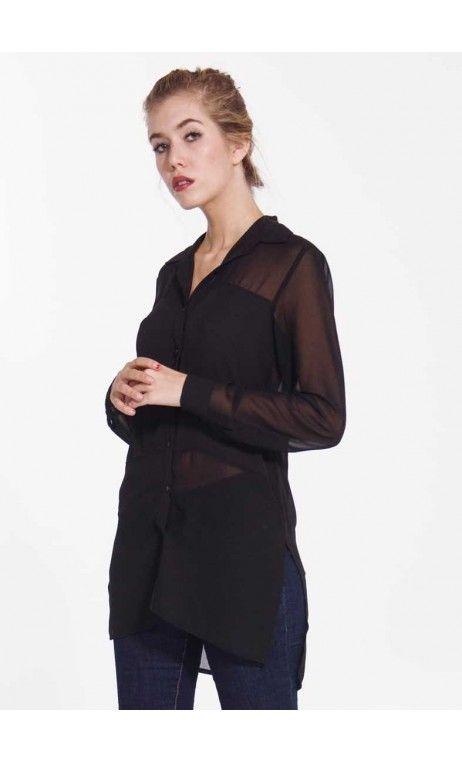 Camicia Lunga Spacco