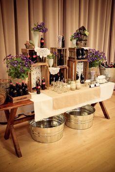 Rustic wedding buffet displays | Found on stylingbyshawna.wordpress.com