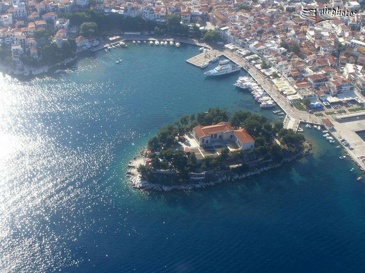 Skiathos town - harbour - Bourtzi