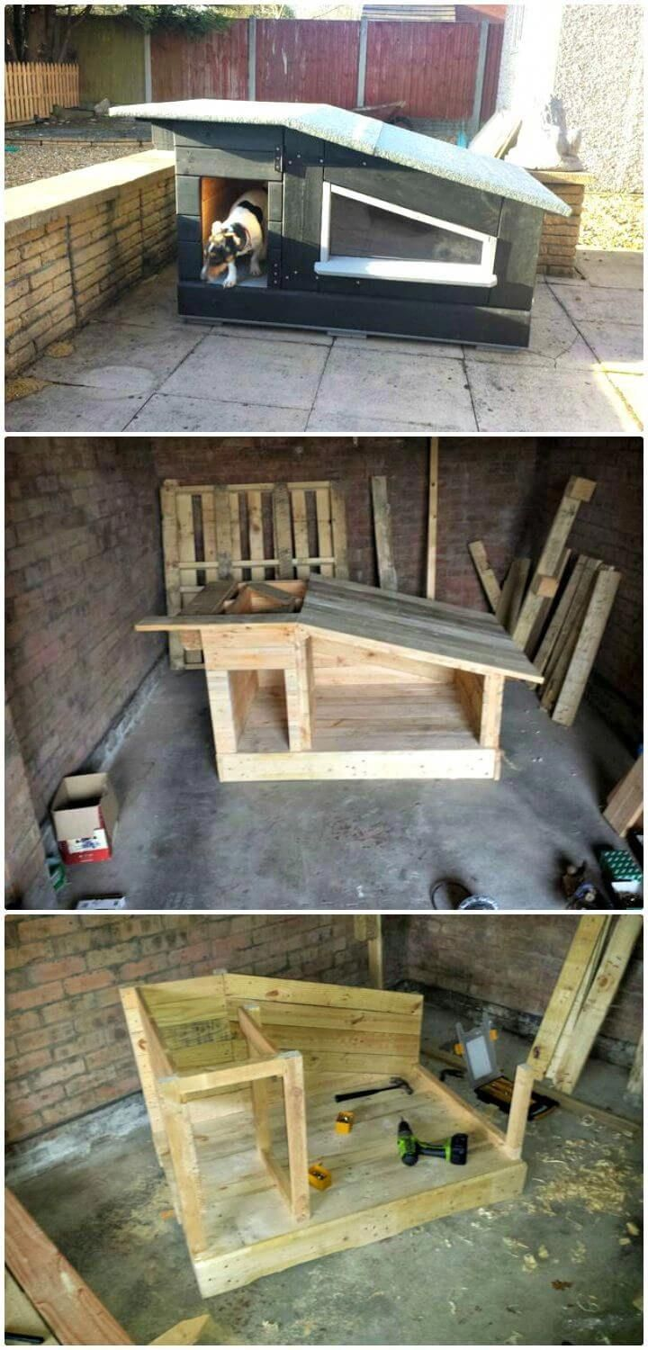 Easy Framing For A Slanted Roof Dog House Outdoor Dog House