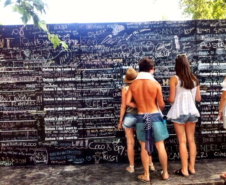 Before I die wall. Szgiet festival, Budapest, Hungary