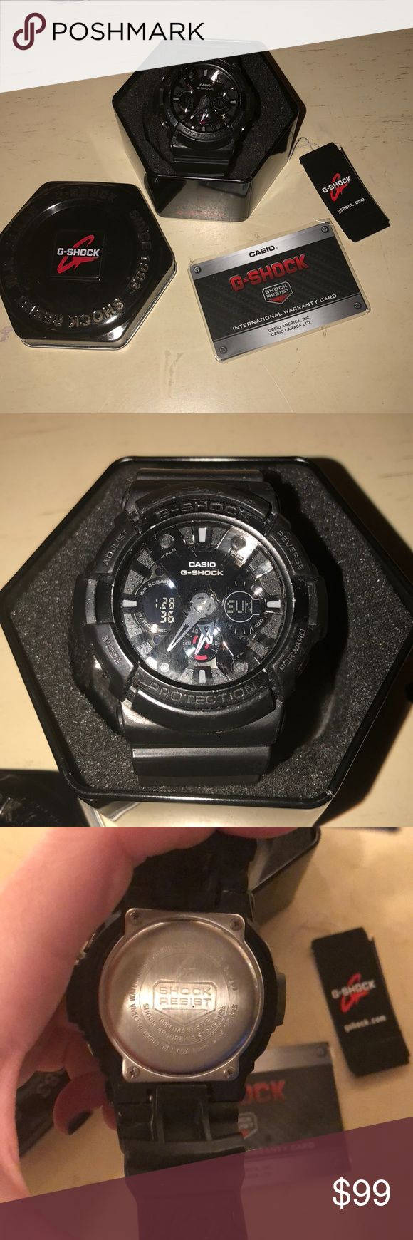 G-Shock Watch temp price watch Watch style #5229 in great worn condition. Black on black!!! Looks great on the wrist and can be dressed up or down. Battery works!!! 24 hr temp price drop G-Shock Accessories Watches