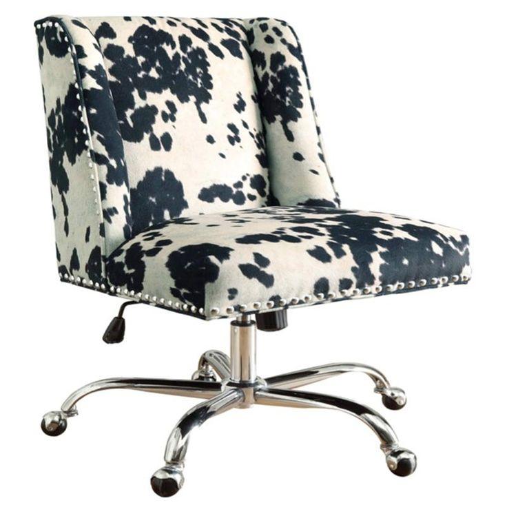 Buy Linon Draper Office Chair Udder Madness Black