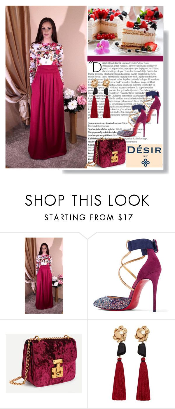 """Desir 2"" by followme734 ❤ liked on Polyvore featuring Balmain, Christian Louboutin and MANGO"