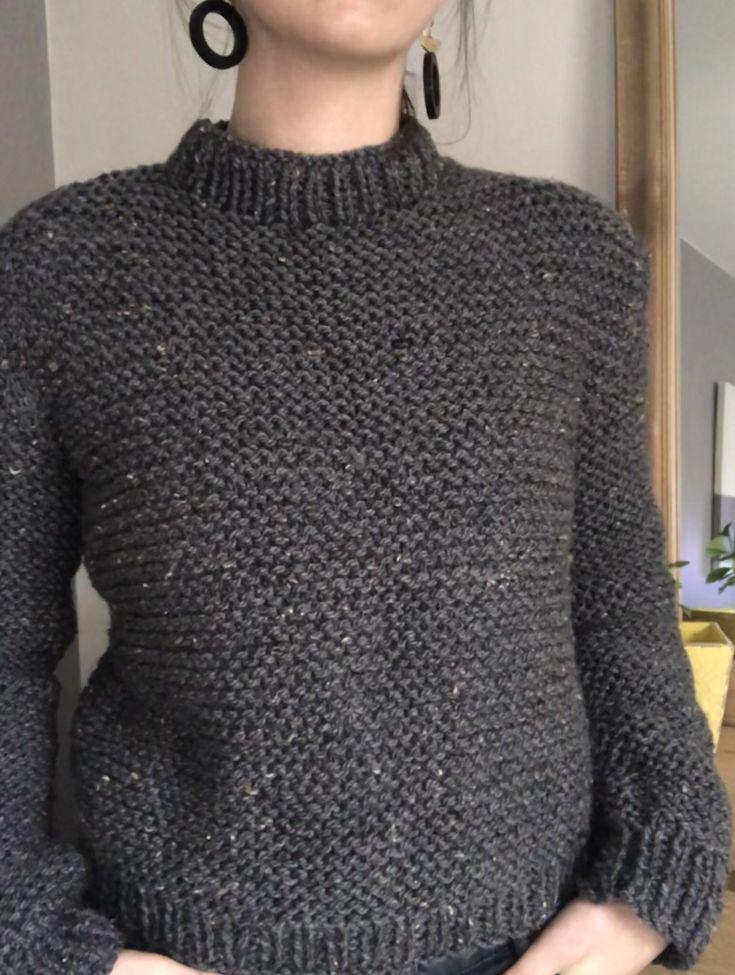 Patron gratuit tricot pull
