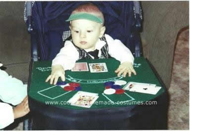 Homemade Baby Black Jack Dealer Stroller Costume: This Baby Black Jack Dealer Stroller Costume is a good costume that will allow you to incorporate your stroller. Use sturdy cardboard to make black jack