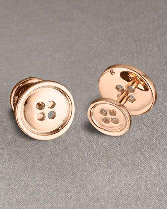Button cufflinks by Robin Rotenier at Neiman Marcus.