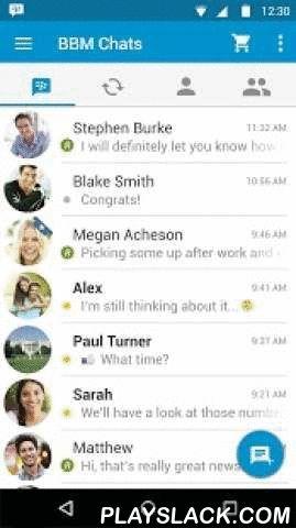 BBM  Android App - playslack.com ,  BBM is niet langer uitsluitend voor BlackBerry. BBM is een GRATIS chat-app voor Android en andere smartphones. BBM beschikt over unieke functies waarmee u uw privacy kunt beschermen en de controle kunt behouden:• Intrekken – Trek berichten en foto's in, zelfs nadat u ze verzonden heeft. Trek ze in voordat ze zijn gelezen (R). Uw contactpersonen weten van niks! *• Timer – Stel een timer in zodat berichten of foto's slechts voor een bepaalde tijd kunnen…