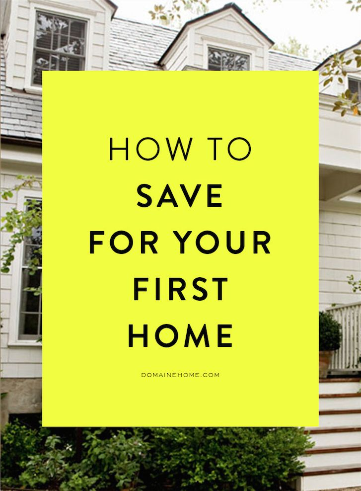 How to save up for a down payment on your first house