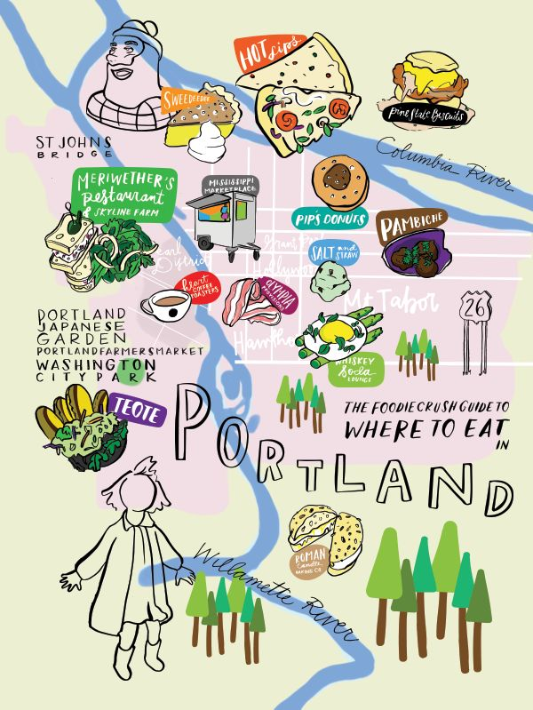 Food Bloggers' Guide of Where to Eat In Portland OR   foodiecrush.com Travel / Travel Tips / Bucket List / Oregon