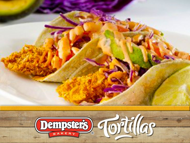 Mhmmm... lets chow down on these Coconut Crusted Tilapia Tacos with Chipotle Cream. @Dempster's® Bakery #WrapItUp