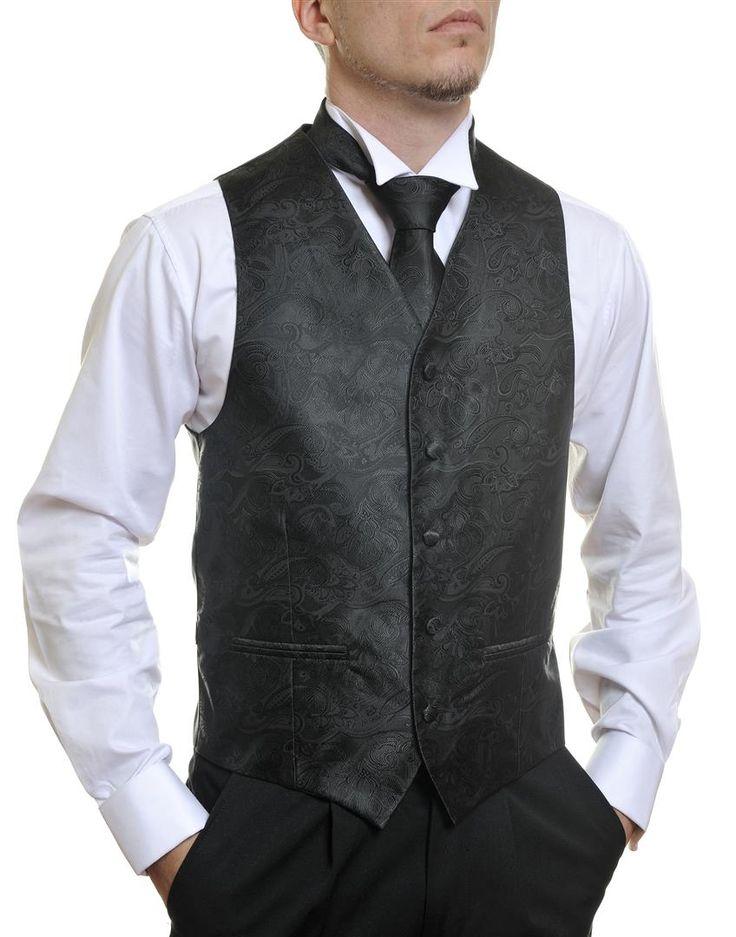 Black Paisley #Australia made #AU #Groom #Dinner #Vest #Fashion #Clothing #Beautiful #Wedding