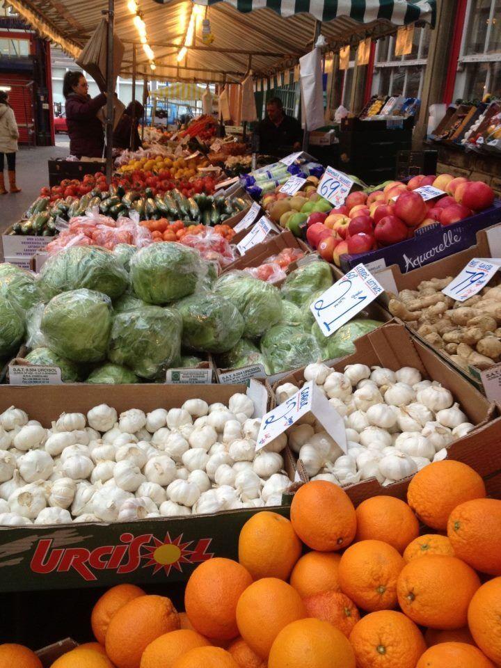 Fruit & veg stall at Huddersfield  Market 2013