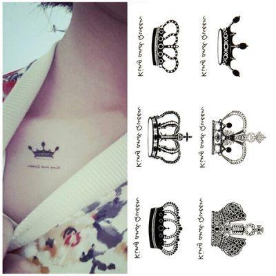 Crown Geçici Dövme, Tattoo, Temporary Tattoo