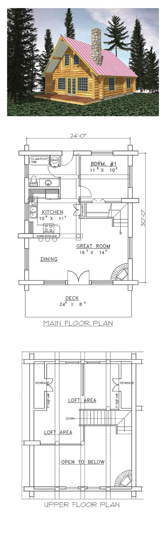Log House Plan 87070 1711 best Campers