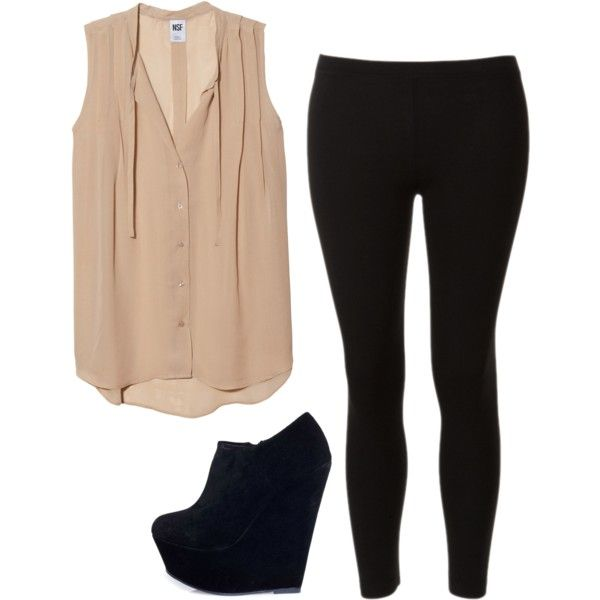 """Eleanor Calder inspired outfit for a club with black leggings"" by eleanorcalder-style on Polyvore"