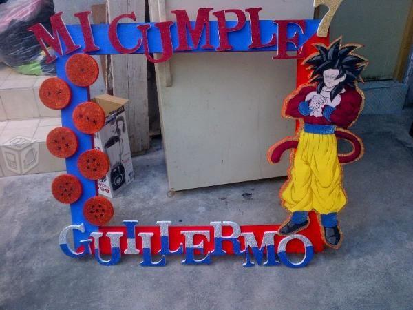Marco para fotos tematico dragon ball z marcos for Cuartos decorados de dragon ball z