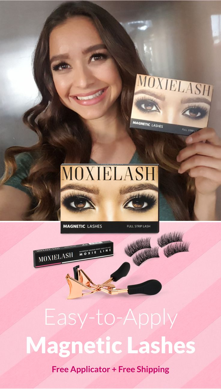 Easy to apply lashes from moxie lash click here