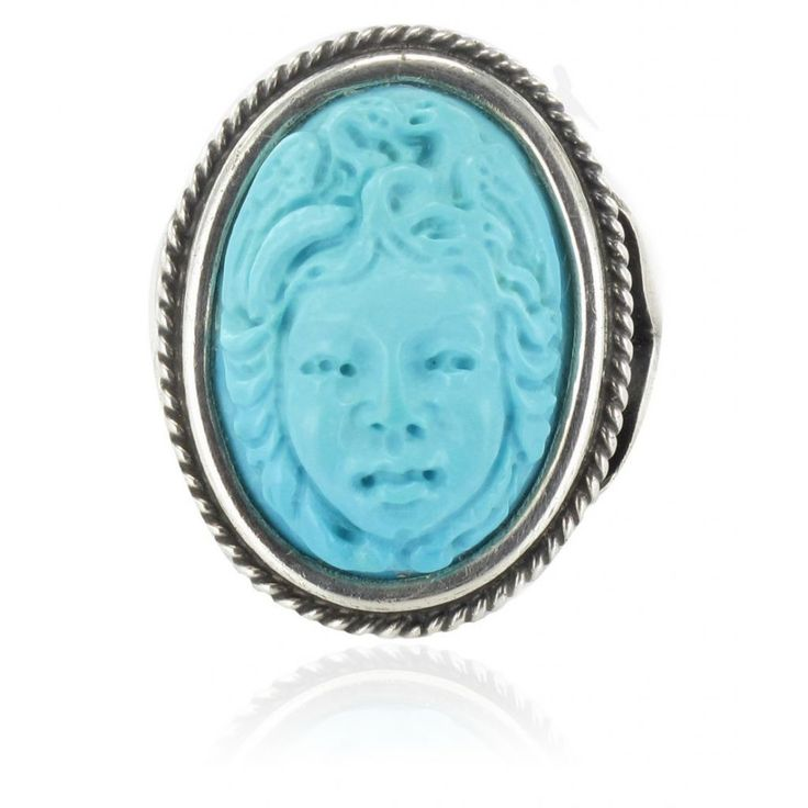 Style antique - Bague camée turquoise.  http://www.bijouxbaume.com/bague-camee-turquoise-a1688.html