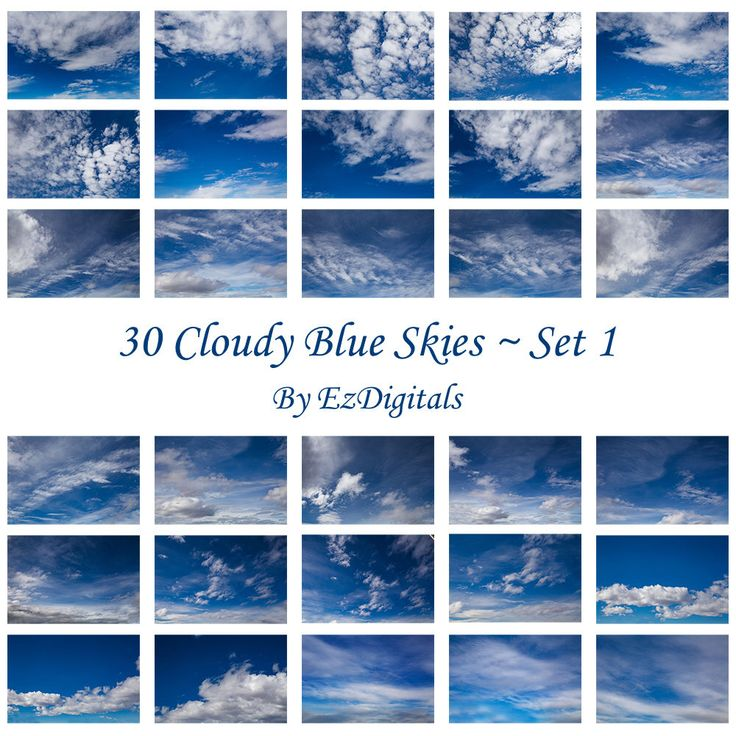 A personal favorite from my Etsy shop https://www.etsy.com/ca/listing/519506645/30-cloudy-blue-sky-overlay-photo