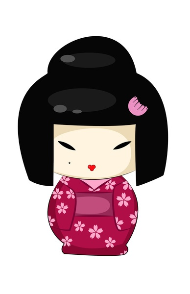The Modern GEISHA ✿ :: Kokeshi Doll Art Print