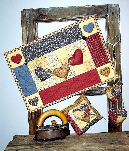 ~ Love Is In The Air ~ Wall Quilt and Lavender Sachet Pillow