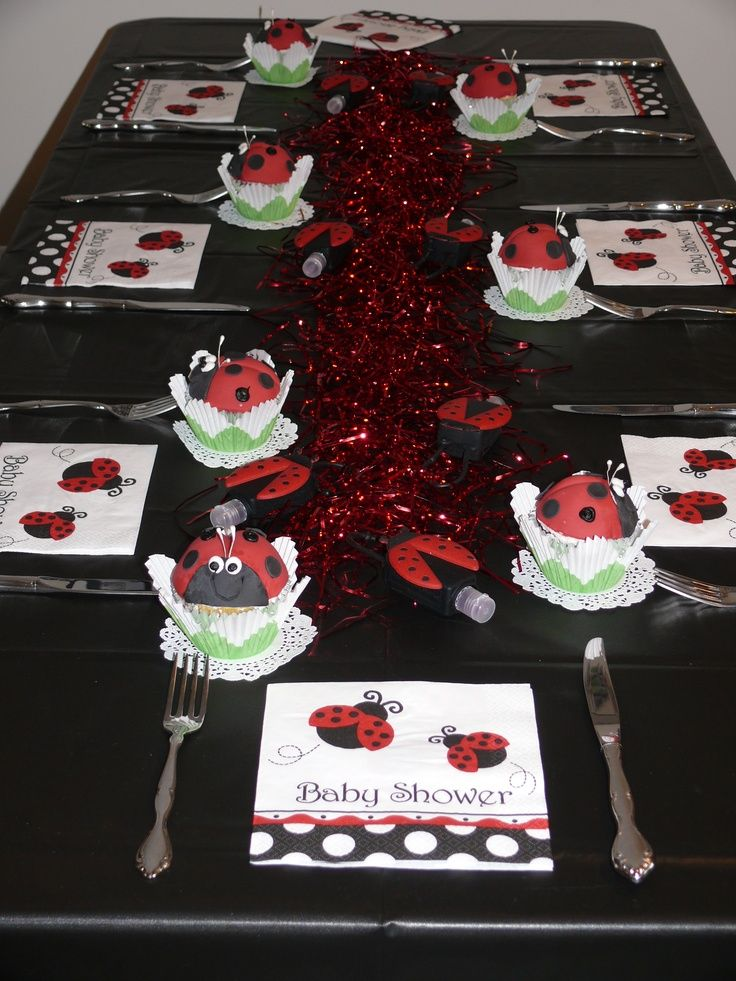 of ladybug baby shower style centerpieces theme ideas baby shower