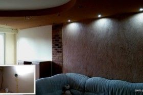 "Look at ""Before & After"" change this living room!  Creative / Hand-formed walls"