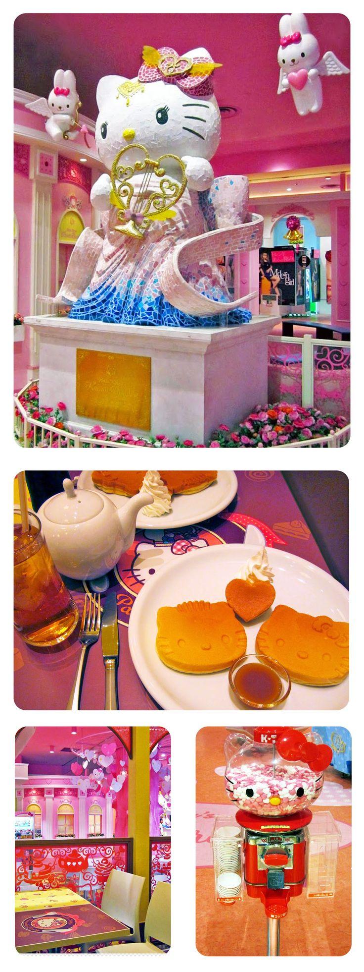 Hello Kitty's Pancake Party, Sanrio Themed Restaurant - Odaiba, Tokyo
