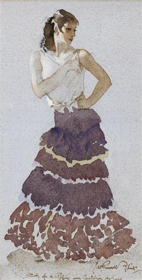 William Russell Flint - Gipsy Girl