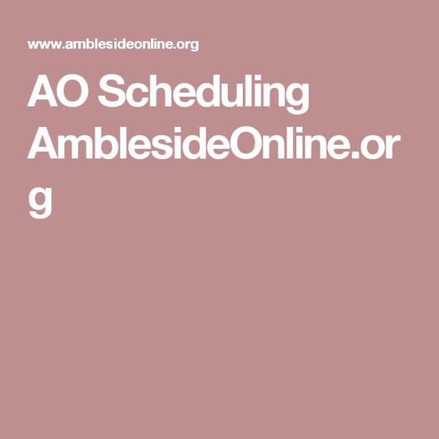 AO Scheduling AmblesideOnline.org