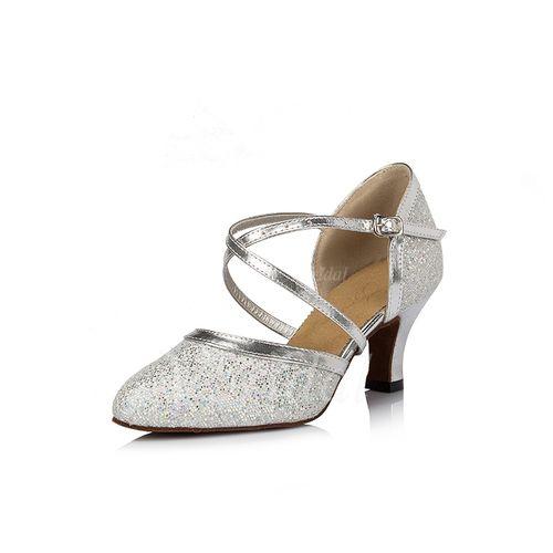Chaussures de danse - $31.21 - Femmes Paillettes scintillantes Talons Escarpins…
