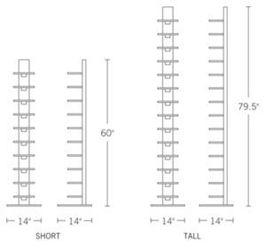 Shop Sapien bookcase at Design Within Reach. Modern vertical bookcases. Contemporary bookshelves.